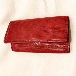Authentic Louis Vuitton Red Epi Leather Key Case